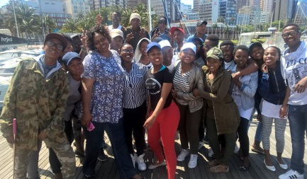 SIGHTSEEING: Sixishe Junior Secondary School Grade 9 pupils visited the Durban harbour on their tour to the city