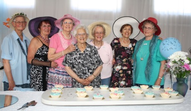 A CENTURY: Komani District Wesley Methodist Church Women's Auxiliary members and their guests celebrating their 100 year anniversary at the Dugmore Hall were, from left, Esme Barraud, Yvonne van der Walt, Cecily Wakeford, Stella Collins, Liz Fincham, Rose McDougall and Ruth Venter Picture: BONGI SOLUNDWANA