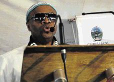 HERITAGE EVENT:  AmaRharhabe  kingdom royal spokesman Prince Zolile Burns-Ncamashe was the guest speaker at the build-up to Heritage Day celebrations Picture: ABONGILE SOLUNDWANA © Daily Dispatch