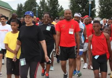 Runners at the start of the 2014 Eyasekasi race