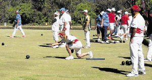GOT IT: Michele Morris of the Queenstown Bowling Club in action