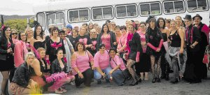 Komani women who boarded a bus as part of a fundraising drive for Cansa recently  Picture: ABONGILE SOLUNDWANA