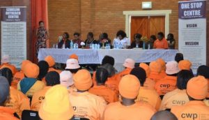 Community Works staff members and Ezibeleni residents during the build-up to the 16 Days of Activism campaign