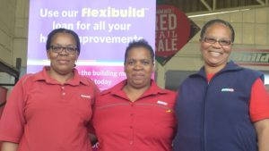 WELCOME: Ensuring your finances are enabled are, from left, Nontobeko Zondani, Sylvia Gala, Nomfanelo Mase of Build It Queenstown